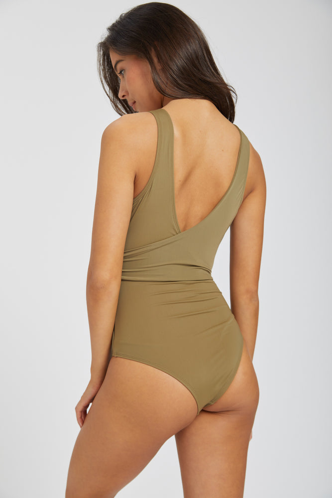 Lionel wrap swimsuit - olive