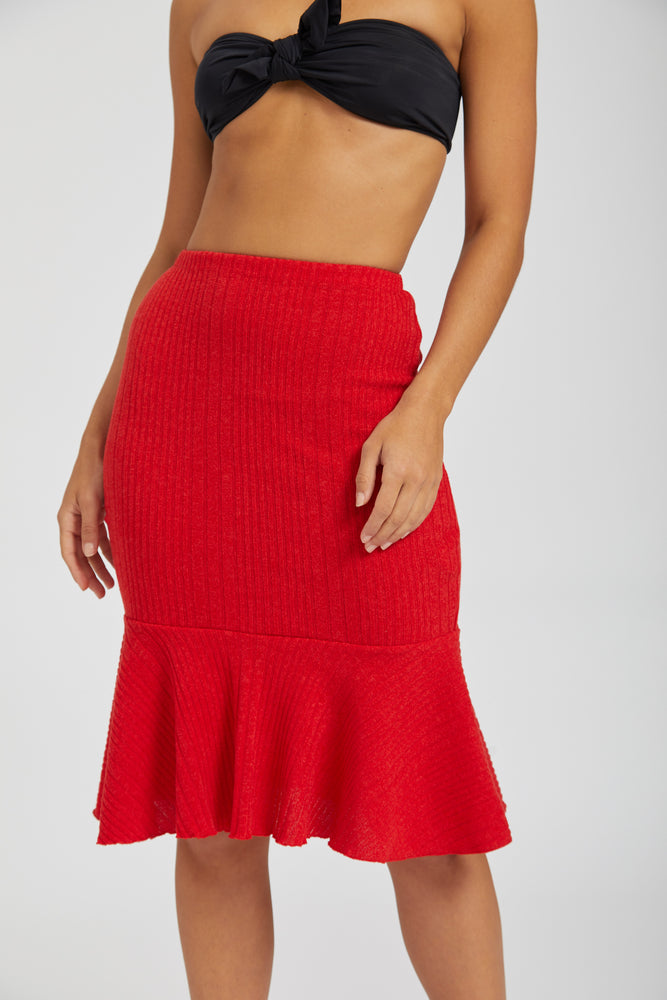 Knit mermaid skirt