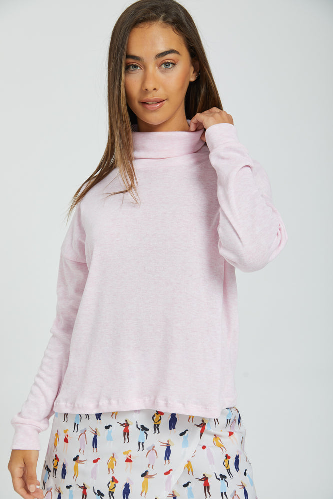 Fairy floss turtle neck