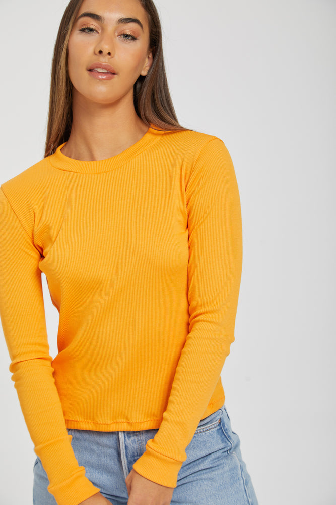 Ribbed long sleeve