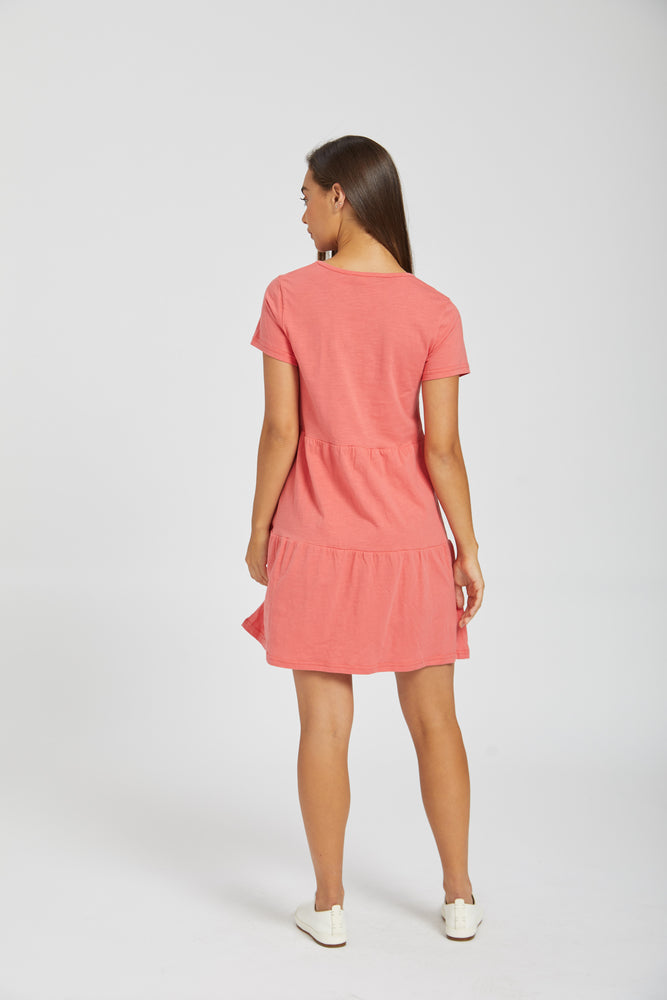 All day dress - coral