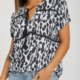 No hassle tassle top - leopard
