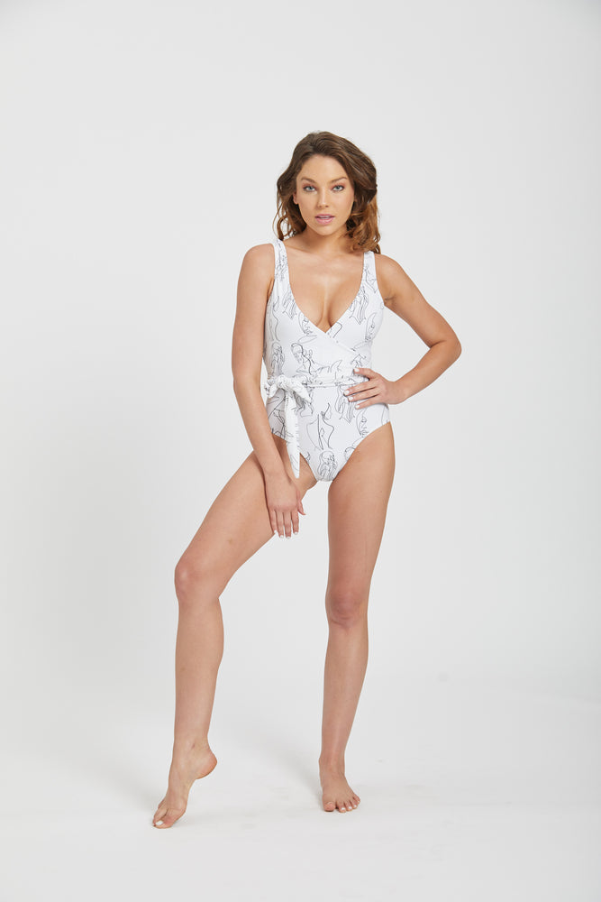 Lionel wrap swimsuit - muse