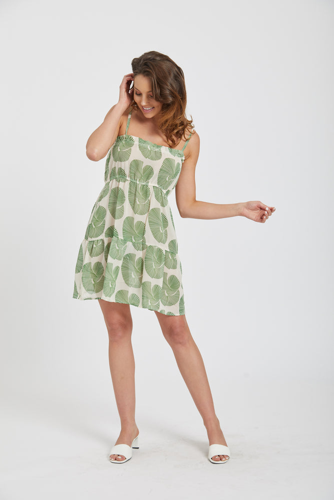 Fan dress - green