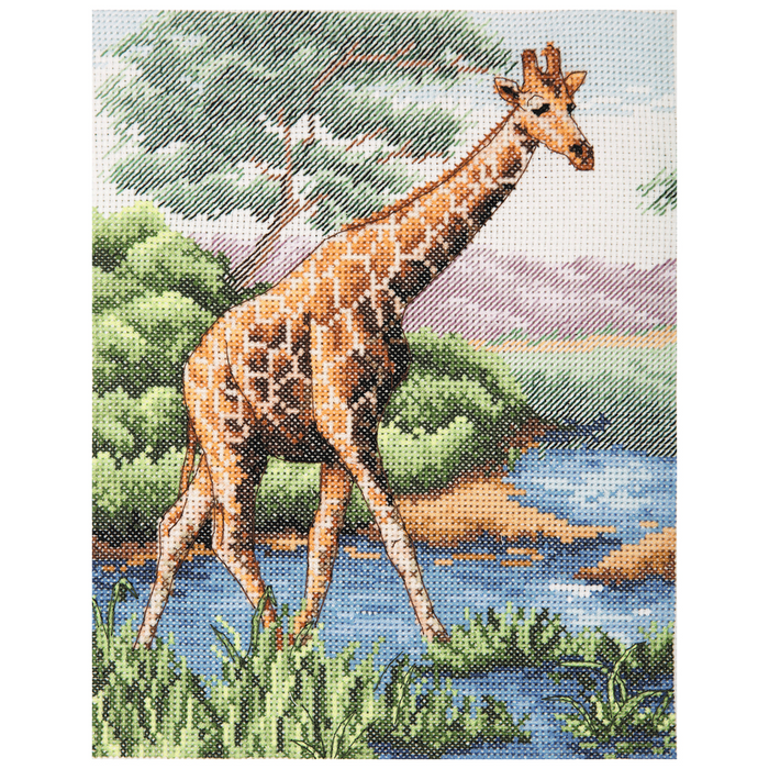 Anchor Counted Cross Stitch Kit - Giraffe - African Wildlife