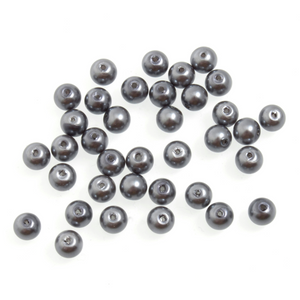 Trimits Silver Grey Strung Glass Pearls 30 x 6mm Beads