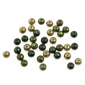 Trimits Graduated Green Mix Strung Glass Pearls 30 x 6mm Beads