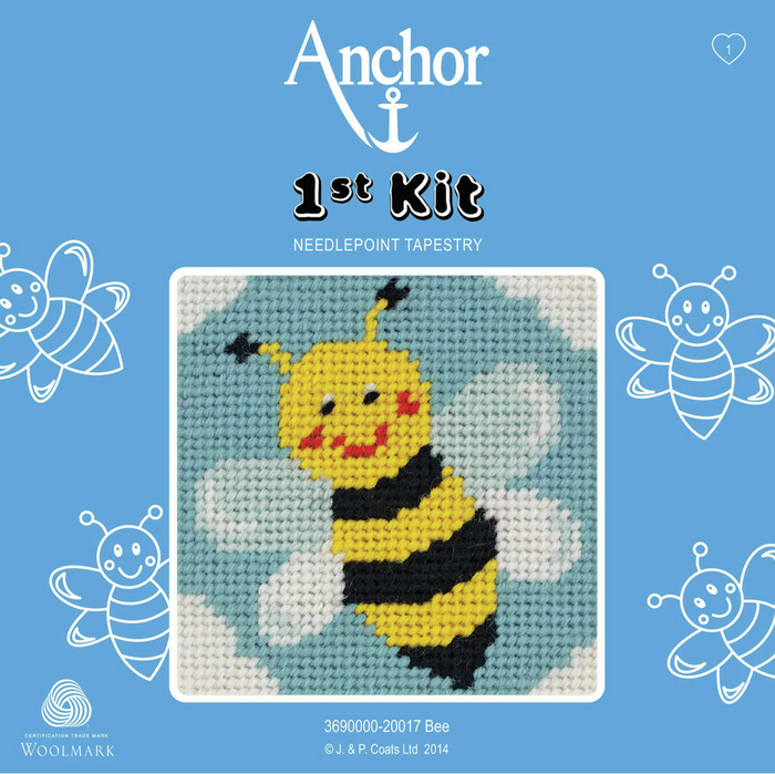 Bumble Bee Needlepoint Tapestry - Anchor 1st Kit
