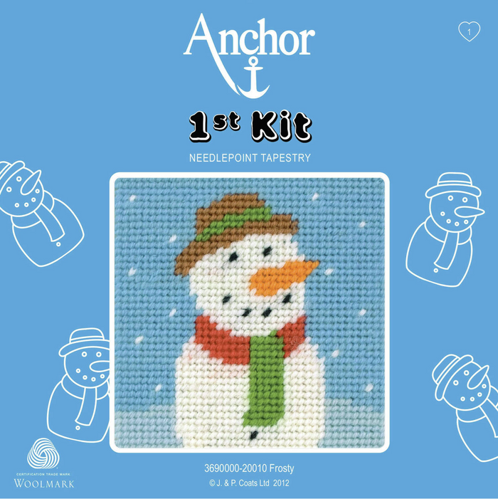 Frosty the Snowman Needlepoint Tapestry - Anchor 1st Kit