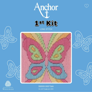 Beth - Butterfly - Long Stitch - Anchor 1st Kit - Button Blue Crafts