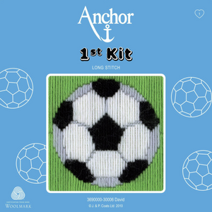 David - Football - Long Stitch - Anchor 1st Kit - Button Blue Crafts