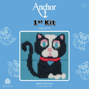 Roberta - Black Cat  - Long Stitch - Anchor 1st Kit - Button Blue Crafts