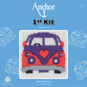 Victor - Camper Van  - Long Stitch - Anchor 1st Kit