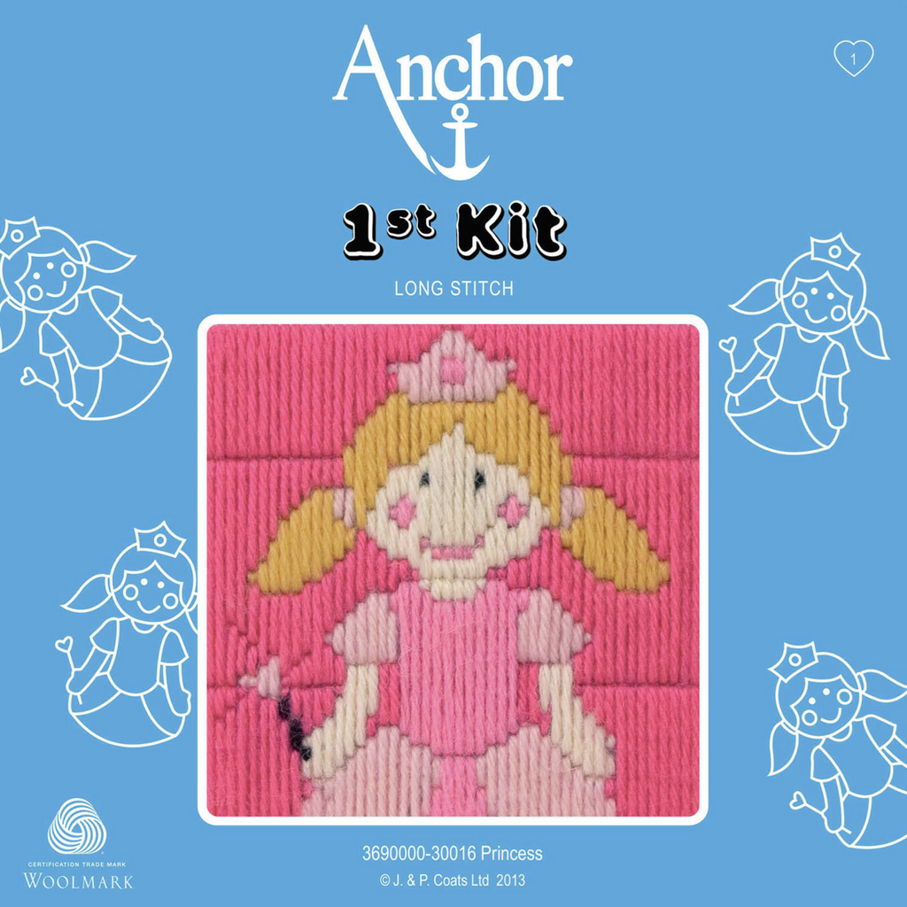 Princess  - Long Stitch - Anchor 1st Kit - Button Blue Crafts