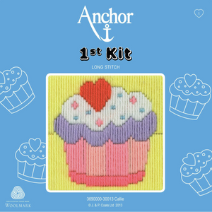 Callie - Cupcake - Long Stitch - Anchor 1st Kit - Button Blue Crafts