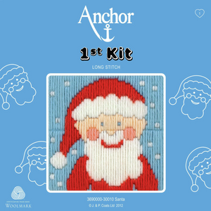 Santa  - Long Stitch - Anchor 1st Kit - Button Blue Crafts