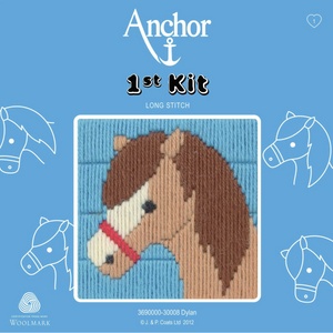 Dylan - Horse / Pony - Long Stitch - Anchor 1st Kit - Button Blue Crafts