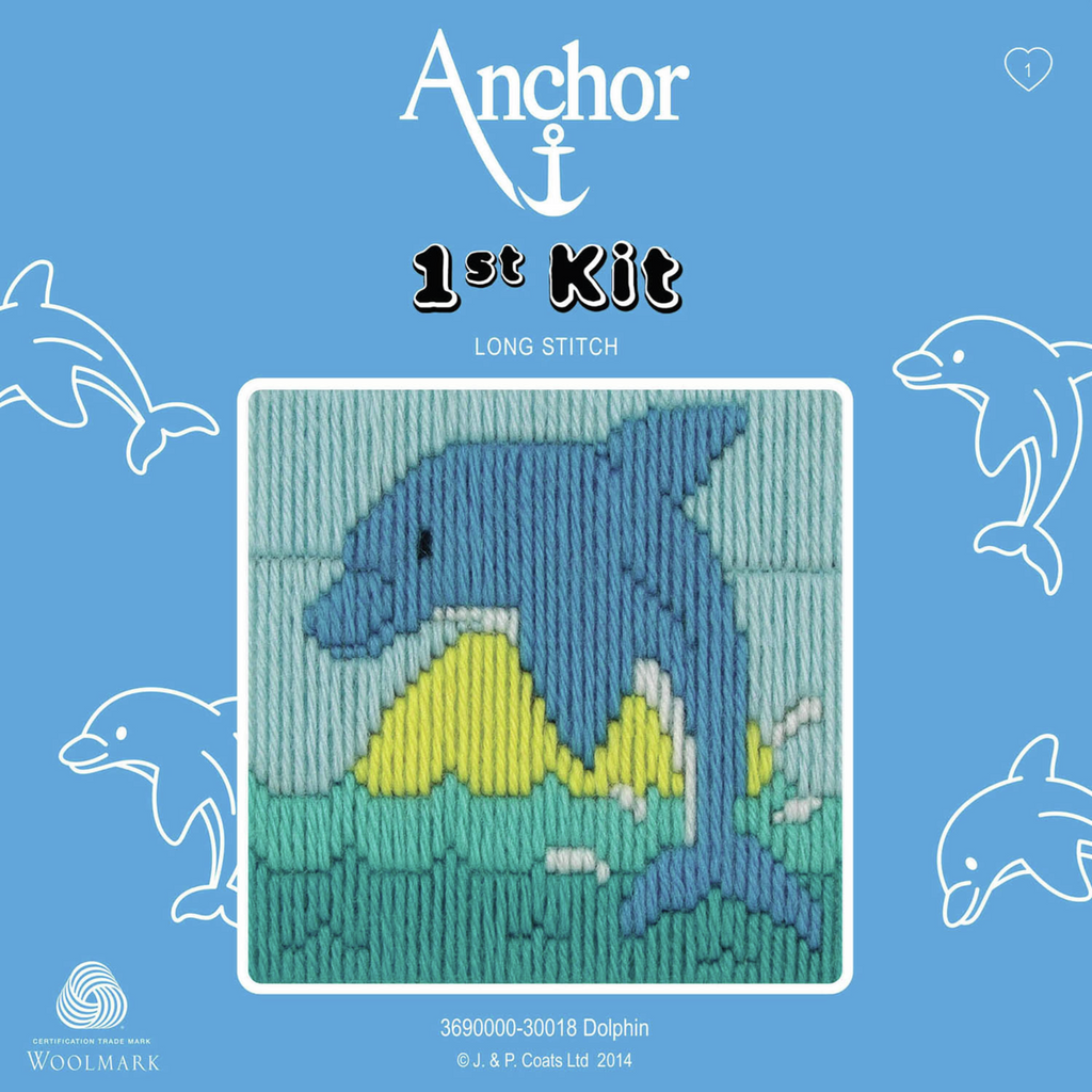 Dolphin - Long Stitch - Anchor 1st Kit - Button Blue Crafts