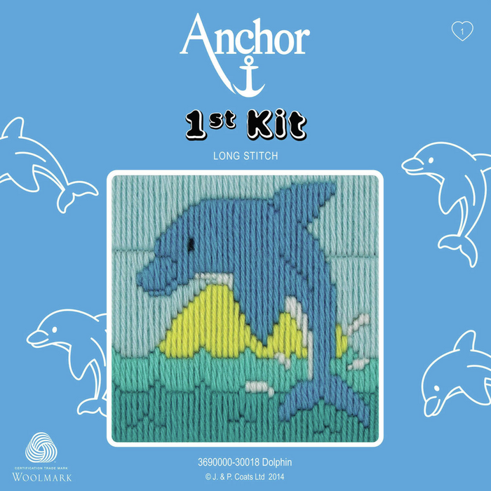 Dolphin - Long Stitch - Anchor 1st Kit