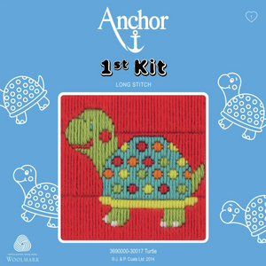 Turtle / Tortoise  - Long Stitch - Anchor 1st Kit