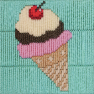 Ice Cream Cone - Long Stitch - Anchor 1st Kit - Button Blue Crafts