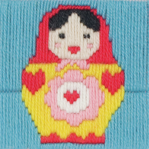 Maria - Russian Matryoshka Doll  - Long Stitch - Anchor 1st Kit - Button Blue Crafts