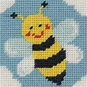 Bumble Bee Needlepoint Tapestry - Anchor 1st Kit - Button Blue Crafts