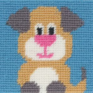 Amber Puppy Dog - Needlepoint Tapestry - Anchor 1st Kit - Button Blue Crafts