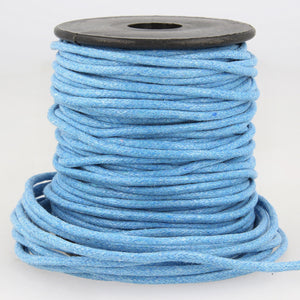 La Stephanoise Imitation Faux Leather 2mm Cord / Thong - Blue - Button Blue Crafts