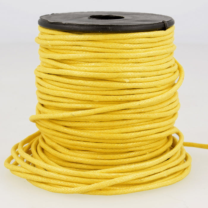 La Stephanoise Imitation Faux Leather 2mm Cord / Thong - Golden Yellow