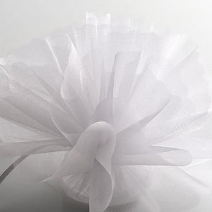 White Organza Tulle Bomboniere Wedding Favour Nets - 50 Pack