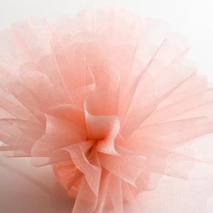 Peach Organza Tulle Bomboniere Wedding Favour Nets - 50 Pack