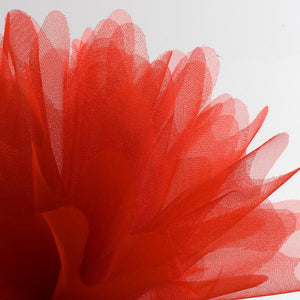 Red Organza Tulle Bomboniere Wedding Favour Nets - 50 Pack