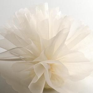 Pale Ivory Organza Tulle Bomboniere Wedding Favour Nets - 50 Pack