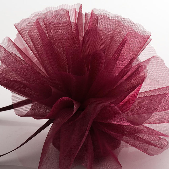 Burgundy Organza Tulle Bomboniere Wedding Favour Nets - 50 Pack