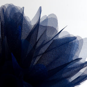 Navy Blue Organza Tulle Bomboniere Wedding Favour Nets - 50 Pack - Button Blue Crafts