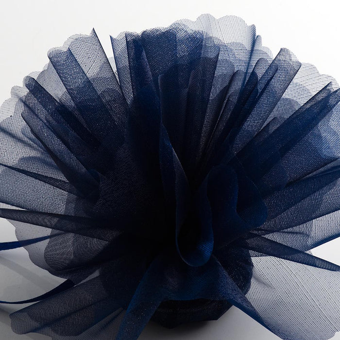 Navy Blue Organza Tulle Bomboniere Wedding Favour Nets - 50 Pack