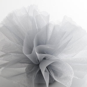 Silver Organza Tulle Bomboniere Wedding Favour Nets - 50 Pack - Button Blue Crafts