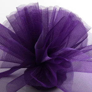 Purple Organza Tulle Bomboniere Wedding Favour Nets - 50 Pack