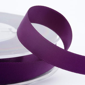 Aubergine Purple Satin Ribbon - Double Faced - 6 Widths - Craft / Sewing - Button Blue Crafts