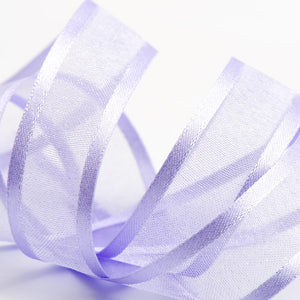 Lilac - Satin Edge Organza - Sheer Ribbon - 4 Widths