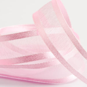 Pale Pink - Satin Edge Organza - Sheer Ribbon - 4 Widths
