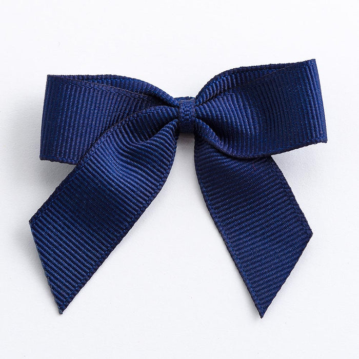 Navy Blue - Self Adhesive Pre Tied Bows - 5cm x 16mm Grosgrain Ribbon