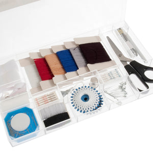 Groves Comprehensive Haberdashery Set - Professional Sewing Kit - 167 Pieces - Button Blue Crafts