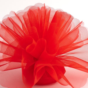 Red Organza Tulle Bomboniere Wedding Favour Nets - 50 Pack - Button Blue Crafts