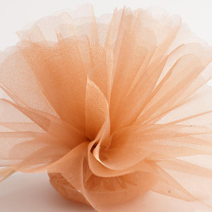 Caramel Brown Organza Tulle Bomboniere Wedding Favour Nets - 50 Pack - Button Blue Crafts