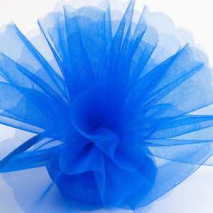 Royal Blue Organza Tulle Bomboniere Wedding Favour Nets - 50 Pack