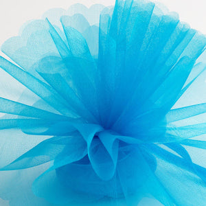 Turquoise Organza Tulle Bomboniere Wedding Favour Nets - 50 Pack - Button Blue Crafts