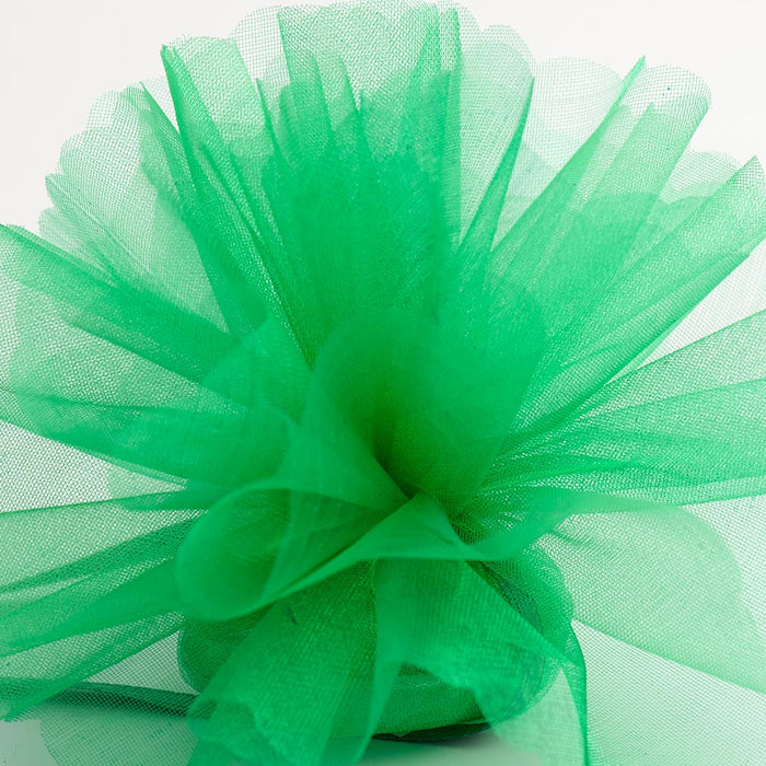 Emerald Green Organza Tulle Bomboniere Wedding Favour Nets - 50 Pack