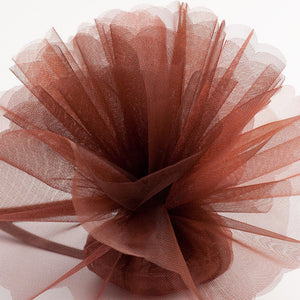 Brown Organza Tulle Bomboniere Wedding Favour Nets - 50 Pack - Button Blue Crafts